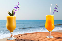 Pineapple, mango and passion fruit juice Royalty Free Stock Photography