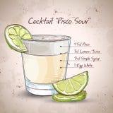 Cocktail Pisco aigre illustration de vecteur