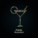 Cocktail - pixel illustration. Stock Image