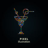 Cocktail - pixel illustration. Stock Photos
