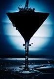 Cocktail pleuvant à torrents dans la cuvette élégante Photographie stock libre de droits