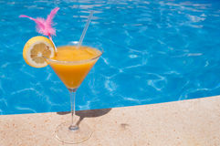 Cocktail by the pool Stock Photos