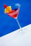 Cocktail at the pool Royalty Free Stock Images