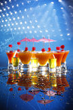 Cocktail Poster On Blue Stock Images
