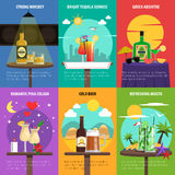 Cocktail Poster Set Royalty Free Stock Photo