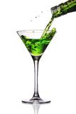 Cocktail poured into martini glass Stock Photo