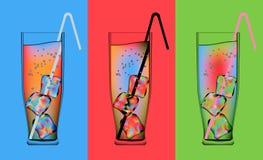 Cocktail psicadélicos ilustração royalty free