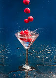 Cocktail with raspberry Royalty Free Stock Image