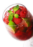 Cocktail - Raspberry with Mint Stock Photography