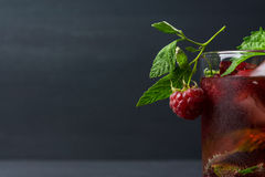 Cocktail with raspberry and mint Royalty Free Stock Photos