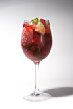 Cocktail - Raspberry with Mint Stock Photo