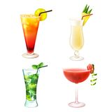 Cocktail realistic set Royalty Free Stock Image