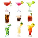 Cocktail realistic set Stock Image