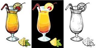 Cocktail realistico di alba di tequila Fotografia Stock
