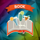 Cocktail recipe book. Design, vector illustration eps10 graphic Stock Photo
