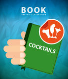 Cocktail recipe book. Design, vector illustration eps10 graphic Stock Photography