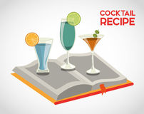 Cocktail recipe book Royalty Free Stock Photo