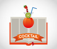 Cocktail recipe book Royalty Free Stock Image
