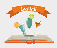 Cocktail recipe book. Design, vector illustration eps10 graphic Stock Photos