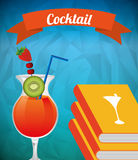 Cocktail recipe book. Design, vector illustration eps10 graphic Royalty Free Stock Images