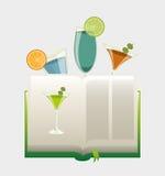 Cocktail recipe book Stock Photos