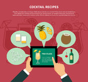 Cocktail Recipe Template Stock Images