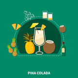 Cocktail Recipe Template Stock Photos