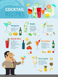 Cocktail Recipes Poster Stock Photo