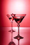 Cocktail on red Royalty Free Stock Images