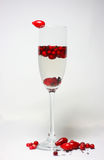 Cocktail with red berries Stock Photos