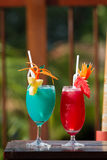 Cocktail Red and Blue Stock Photos