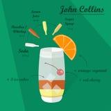 Cocktail-Rezept, Vektor Lizenzfreies Stockfoto