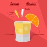 Cocktail-Rezept, Vektor Stockbilder