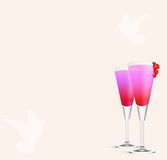 Cocktail Romance Royalty Free Stock Photo