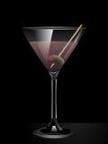 Cocktail rose de genièvre illustration libre de droits