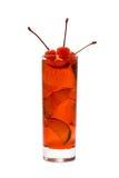 Cocktail rosso con la ciliegia Immagine Stock Libera da Diritti