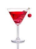 Cocktail rosso con la ciliegia Immagini Stock