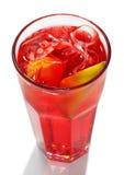 Cocktail rosso dell'alcoolizzato di energia Fotografia Stock