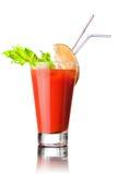 Cocktail rouge d'isolement sur le blanc image libre de droits