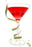 Cocktail rouge de réception Images libres de droits
