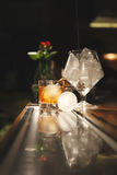 Cocktail with round ice Royalty Free Stock Photos