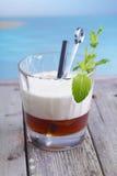 Cocktail russo bianco del caffè Fotografia Stock