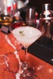 cocktail, sambuca bianco, tequila, gin, ghiaccio, sciroppo dei rosmarini, vaniglia, barra fresca e di rinfresco della bevanda Immagini Stock Libere da Diritti