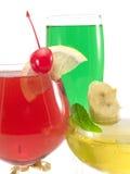 Cocktail-Sammlung - Palais Royale, Aqua Marina und karibische Champagne Stockfoto