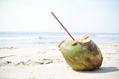 Cocktail on sand Royalty Free Stock Image