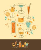 Cocktail-Satz Lizenzfreie Stockfotografie