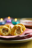 Cocktail sausage rolls Royalty Free Stock Image