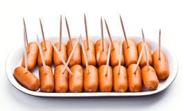 Cocktail sausages Stock Photography