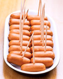 Cocktail sausages Royalty Free Stock Photos