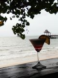 Cocktail by the sea Royalty Free Stock Images